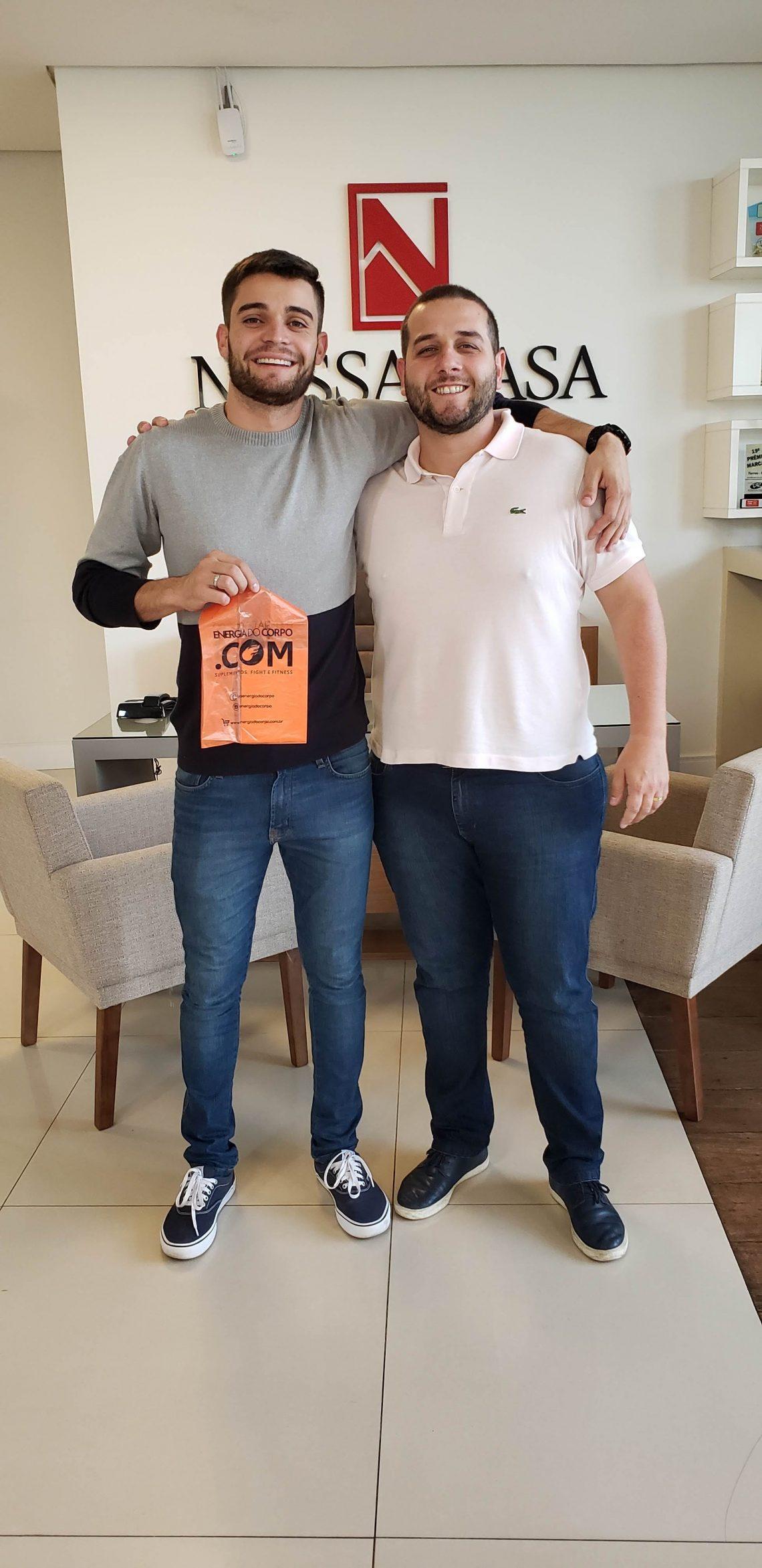 Erick Soares ganhou um vale-compras do seu gerente Jorel Klein